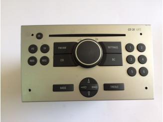 Opel CD30 MP3 Gyári Rádió. Corsa C-Tigra TT-Meriva. Ezüst. Blaupunkt 13167830